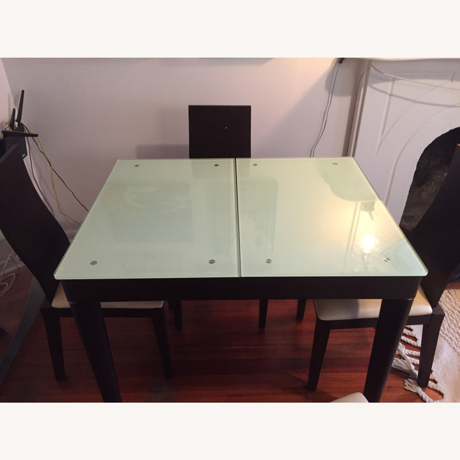 Calligaris Italian Extendable Dining Table Set with 4 Chairs - image-2