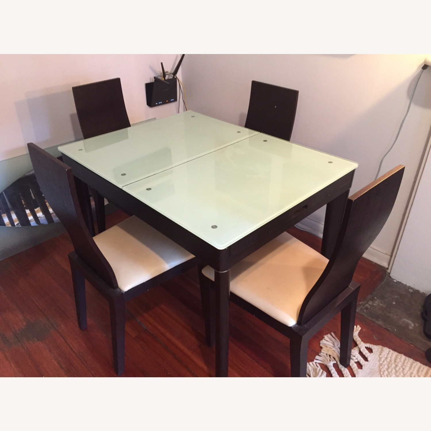 Calligaris Italian Extendable Dining Table Set with 4 Chairs - image-3