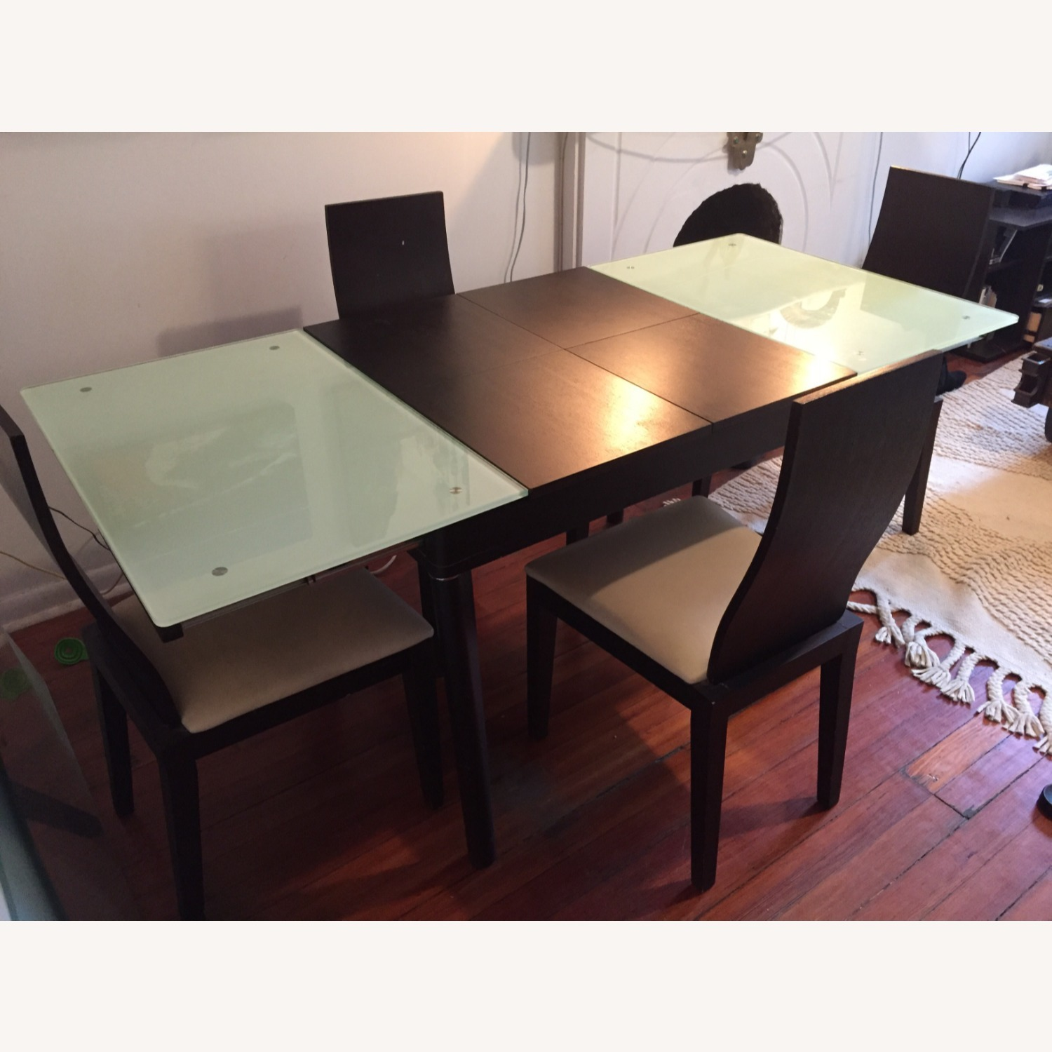 Calligaris Italian Extendable Dining Table Set with 4 Chairs - image-1