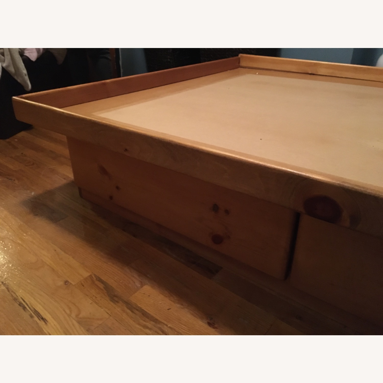 Full Bed Platform 4 Storage Drawers Free Headboard - image-4