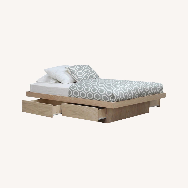 Full Bed Platform 4 Storage Drawers Free Headboard - image-0