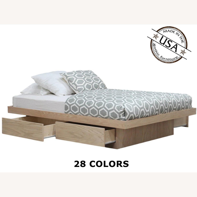 Full Bed Platform 4 Storage Drawers Free Headboard - image-1