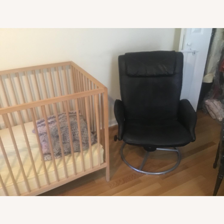 Blond Wood Crib - image-4