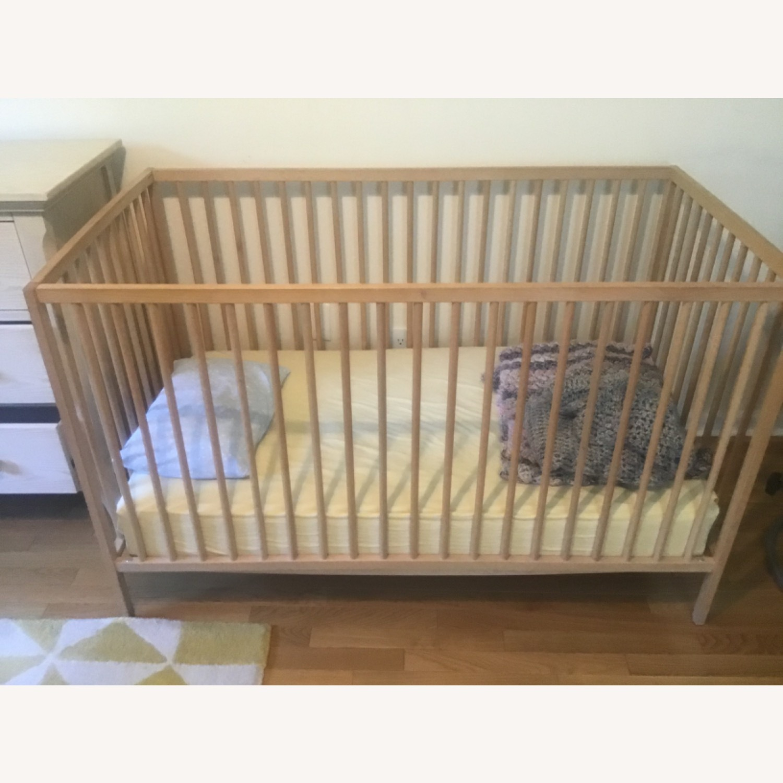 Blond Wood Crib - image-1