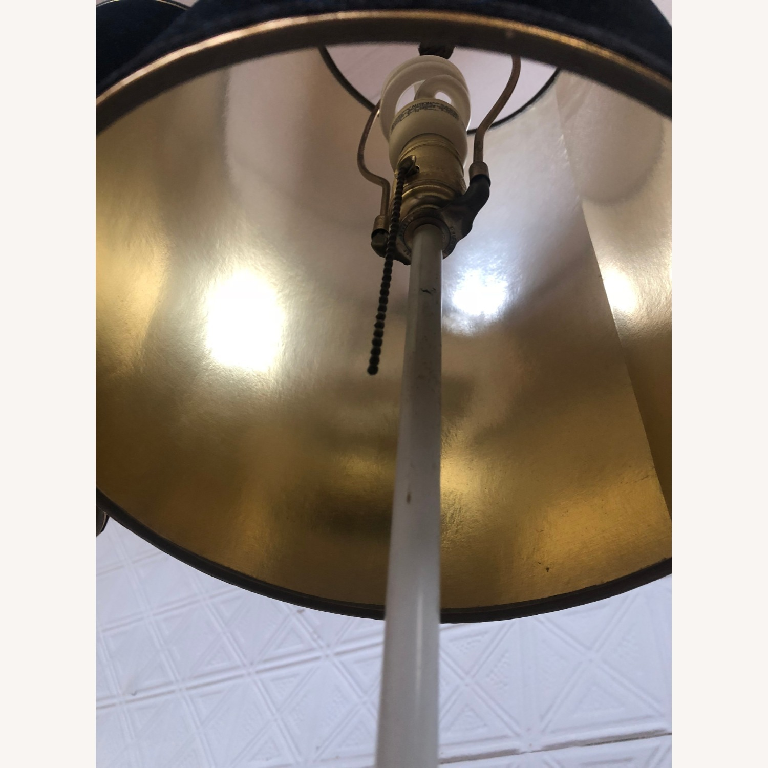 Mid Century Brass & Glass Floor Lamp with Table - image-4