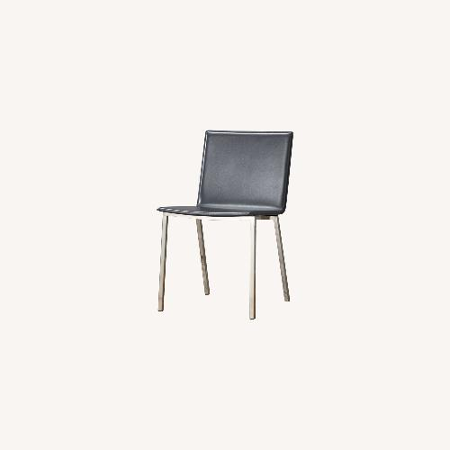 Used CB2 Phoenix Carbon grey chairs for sale on AptDeco