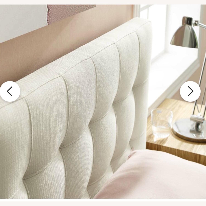 AllModern Francis Upholstered Panel Headboard - Beige - image-2
