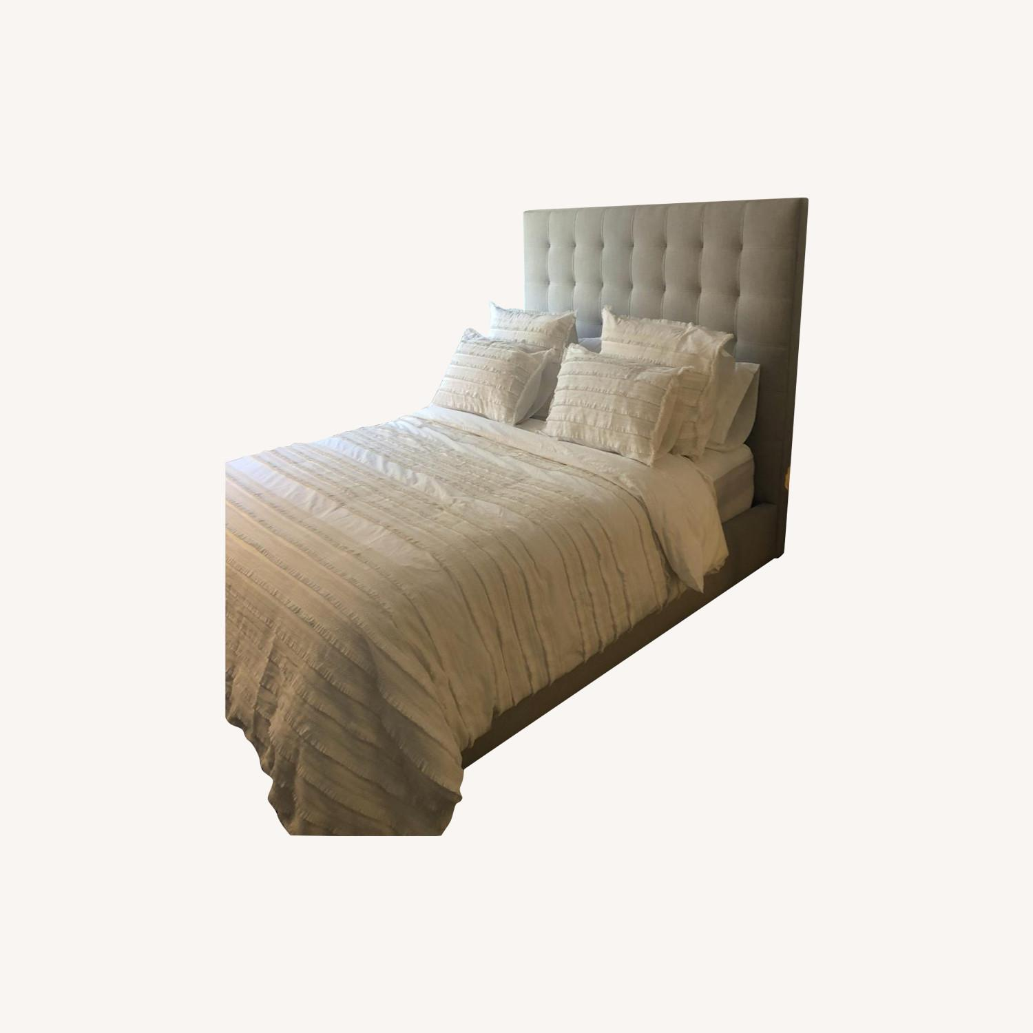 Room & Board Queen Size Light Grey Avery Bed - image-4