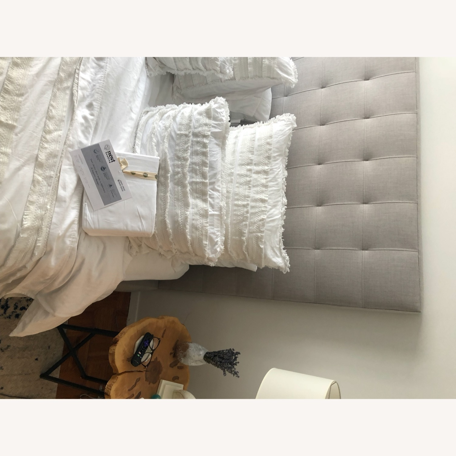 Room & Board Queen Size Light Grey Avery Bed - image-3