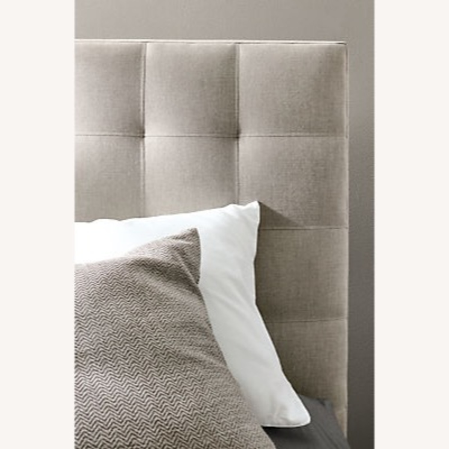 Room & Board Queen Size Light Grey Avery Bed - image-5