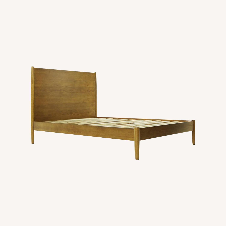 West Elm Mid Century Queen Bed (Acorn) - image-0