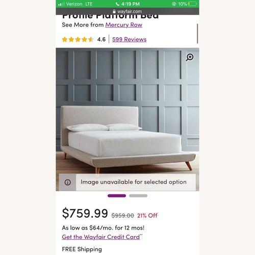 Used Wayfair Mercury Row Upholstered Bed Frame for sale on AptDeco