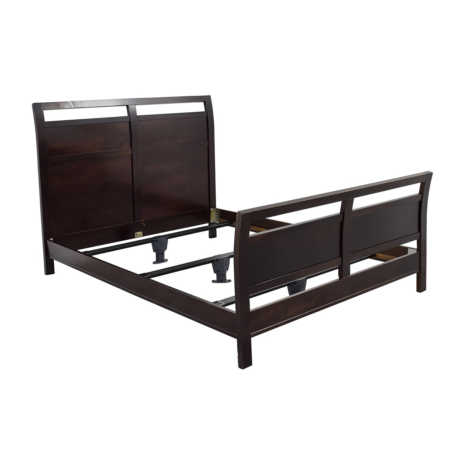 By Design Modern Sleigh Queen Bed w/Slats - image-2