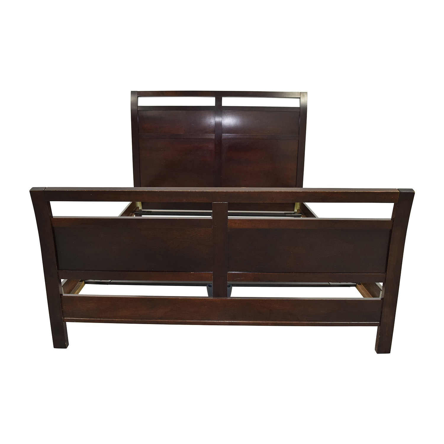 By Design Modern Sleigh Queen Bed w/Slats - image-1