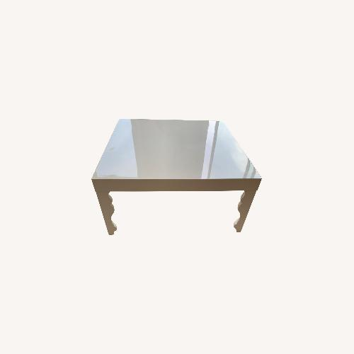 Used Modani White Lacquer Coffee Table for sale on AptDeco