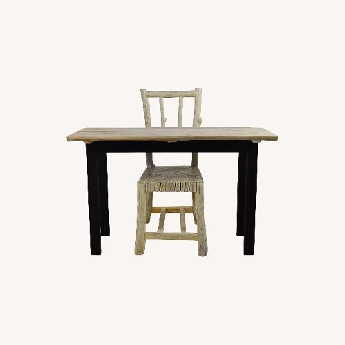 Used Nadeau Handcrafted Rustic Table Desk and Chair for sale on AptDeco