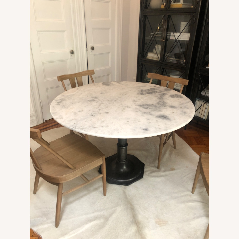 Pottery Barn Round Marble Dining Table Aptdeco