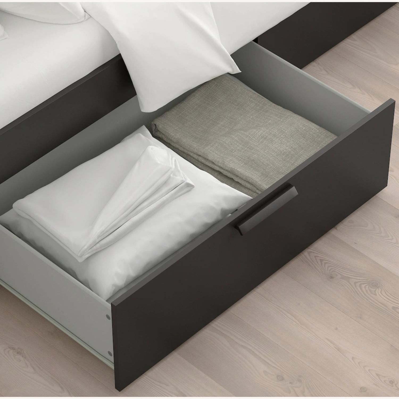 IKEA BRIMNES Bed Frame with Storage - image-3