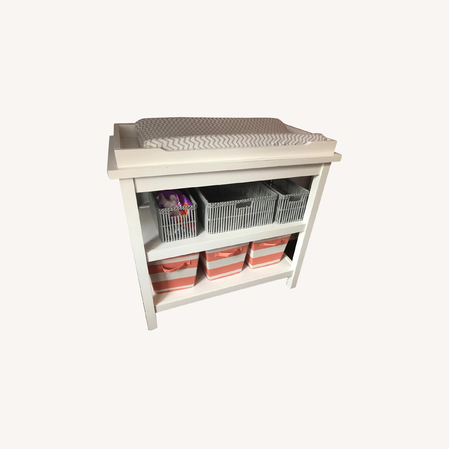 Land of Nod White Changing Table - image-0