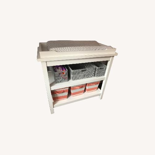 Used Land of Nod White Changing Table for sale on AptDeco
