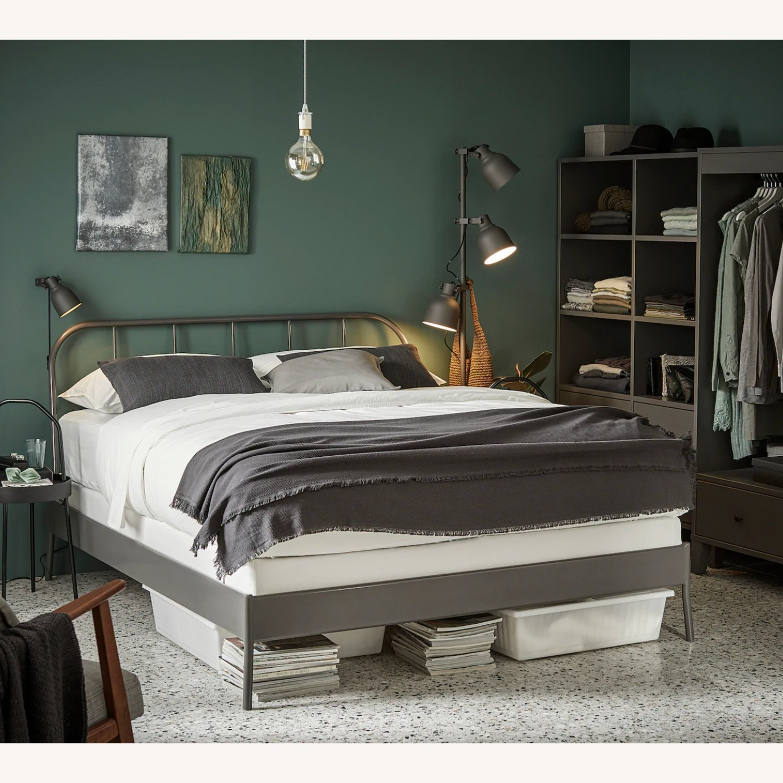 IKEA KOPARDAL Gray Queen Bed Frame - image-5