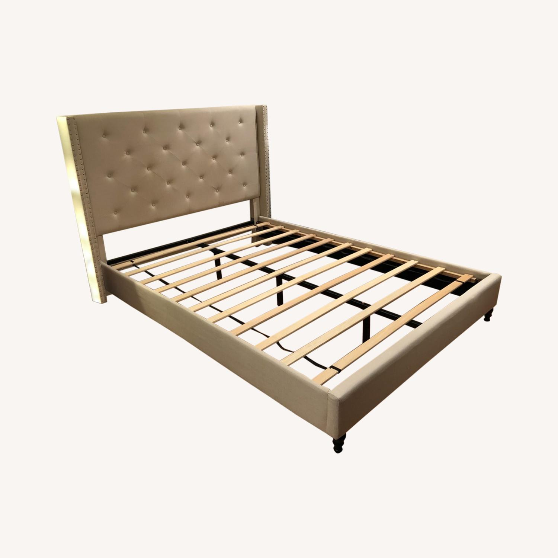 Upholstered Queen Bed Frame - image-0