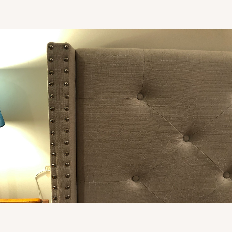 Upholstered Queen Bed Frame - image-6