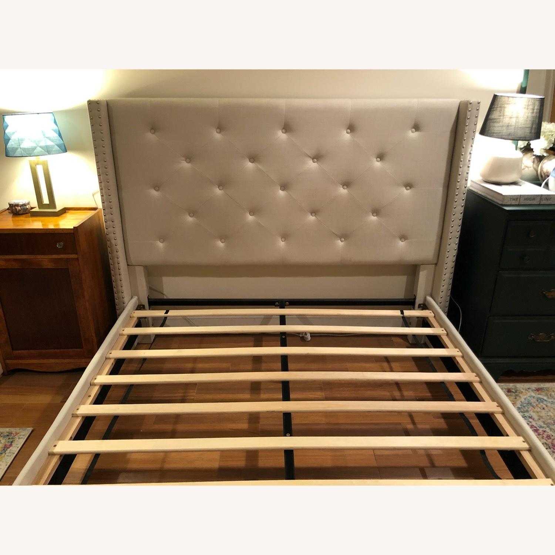 Upholstered Queen Bed Frame - image-2