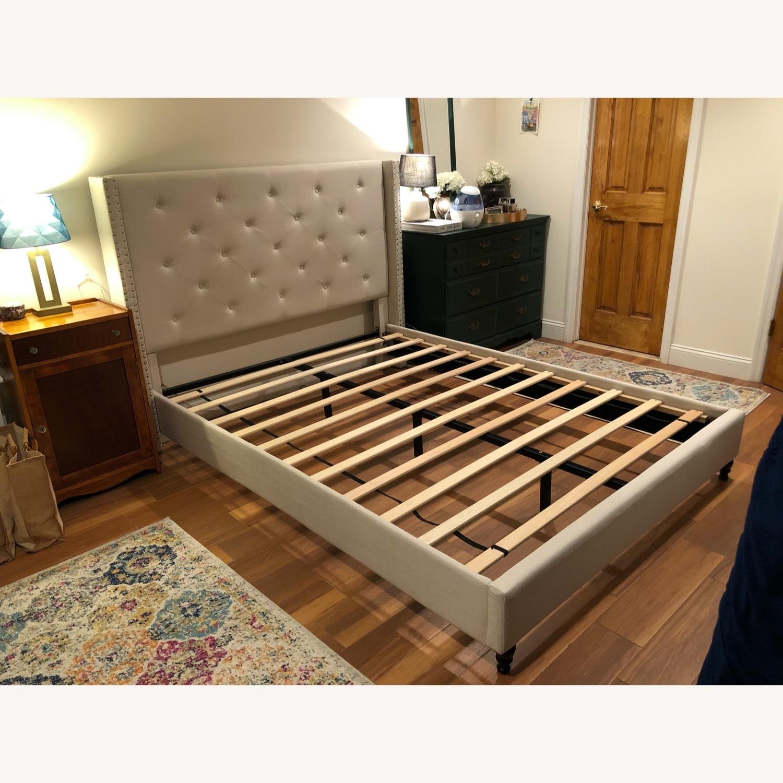 Upholstered Queen Bed Frame - image-1