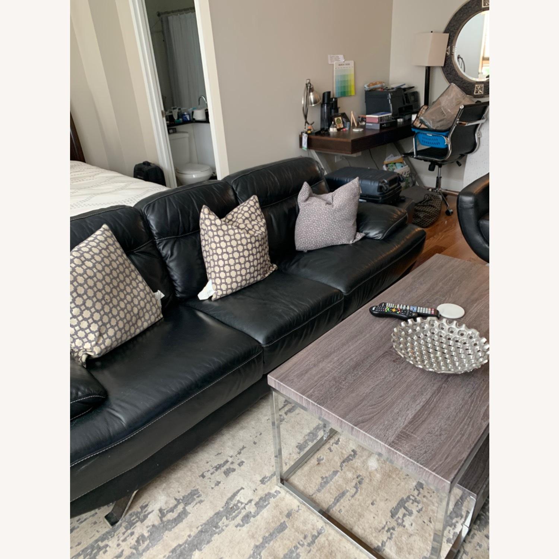 Rooms To Go Sofia Vergara Three Seat Leather Sofa Aptdeco