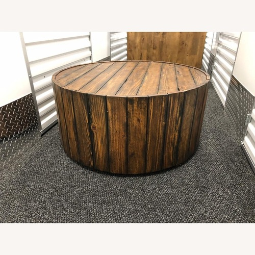 Used Magnussen Dakota Round Cocktail Table for sale on AptDeco