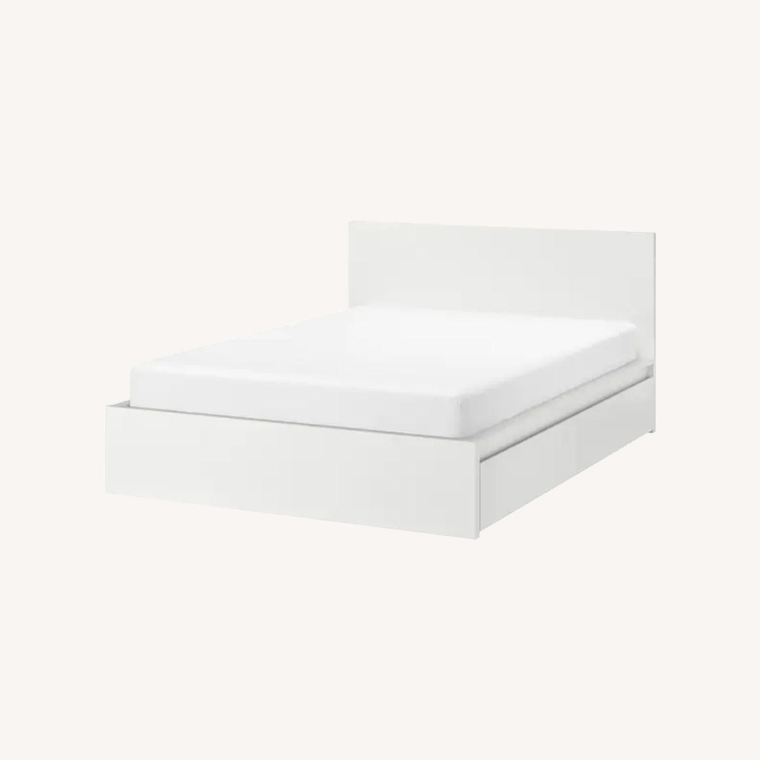 IKEA MALM Full Bed Frame with Four Storage boxes - image-0