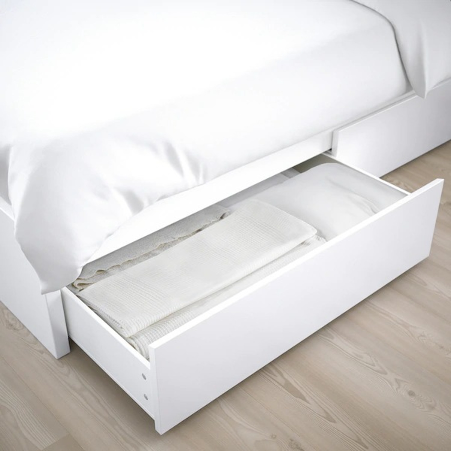 IKEA MALM Full Bed Frame with Four Storage boxes - image-5