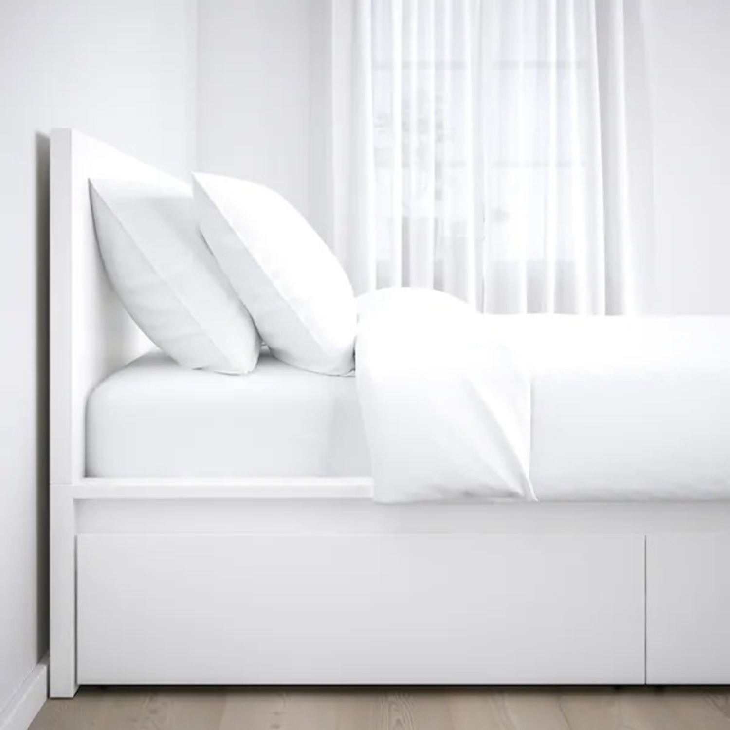IKEA MALM Full Bed Frame with Four Storage boxes - image-4