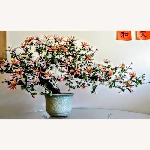 Used Vintage Chinese Jade Glass Flower Tree for sale on AptDeco