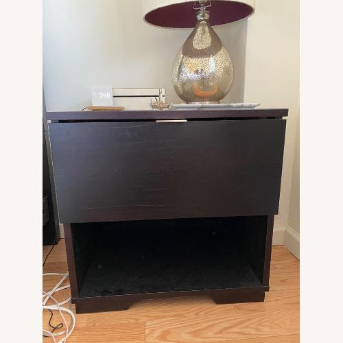Used West Elm Chocolate Brown Night Stand for sale on AptDeco