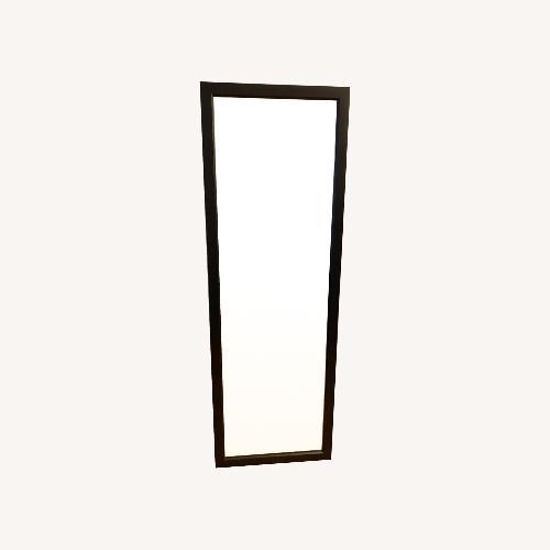 Used Matte Black Framed Mirror for sale on AptDeco
