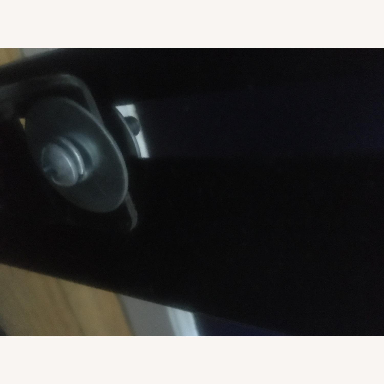 Microsuede Headboard w/Metal Nail Button Trim - image-7