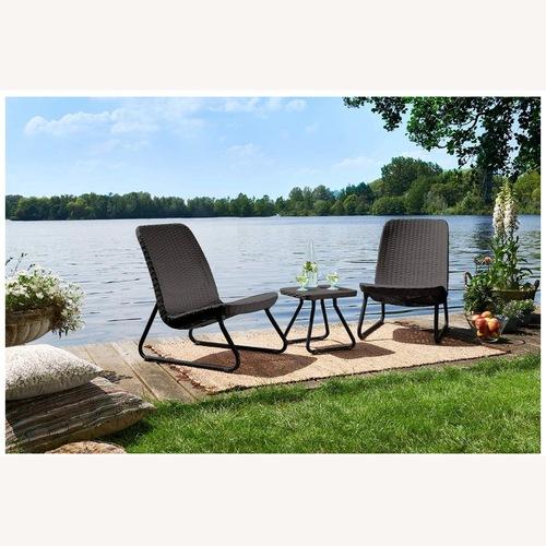 Used Patio Lounge Set - Brown Rattan Resin for sale on AptDeco
