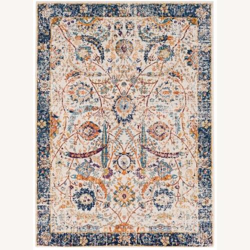 Used Wayfair Hillsby Blue/Beige Area Rug for sale on AptDeco