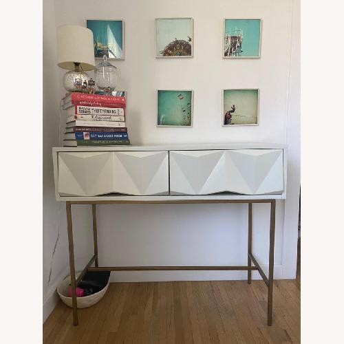 Used West Elm Sculpted Geo Console for sale on AptDeco
