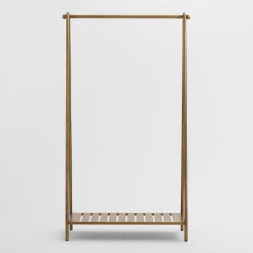 Used World Market Gold Metal Clothing Rack for sale on AptDeco