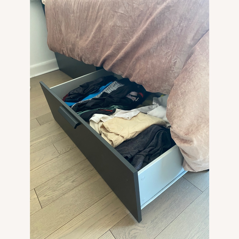 IKEA Full Bed w/ Storage Drawers - image-2