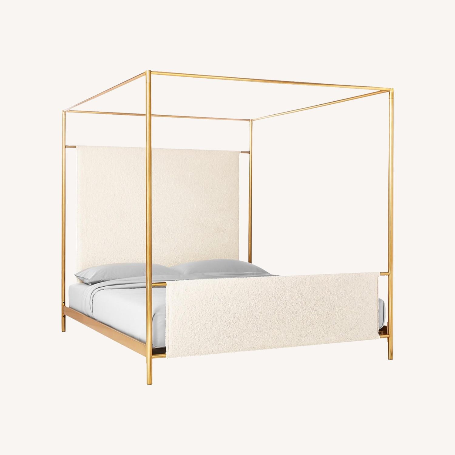 CB2 Odessa Shearling Canopy King Bed - image-0