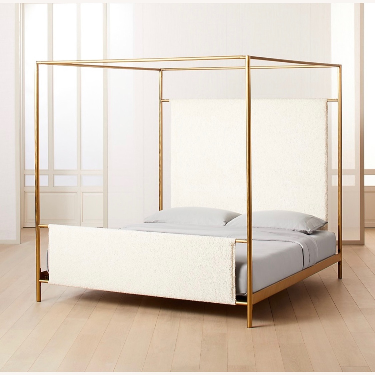 CB2 Odessa Shearling Canopy King Bed - image-3
