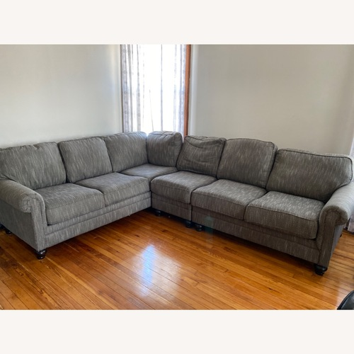 Used Ashley Homestore Graphite 3-piece Sectional for sale on AptDeco