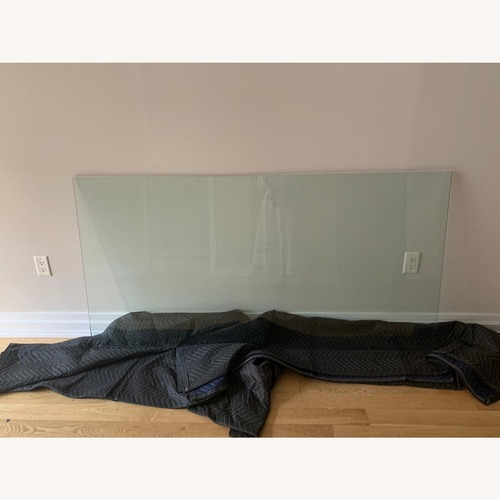 Used CB2 Glass table top (no base included) for sale on AptDeco