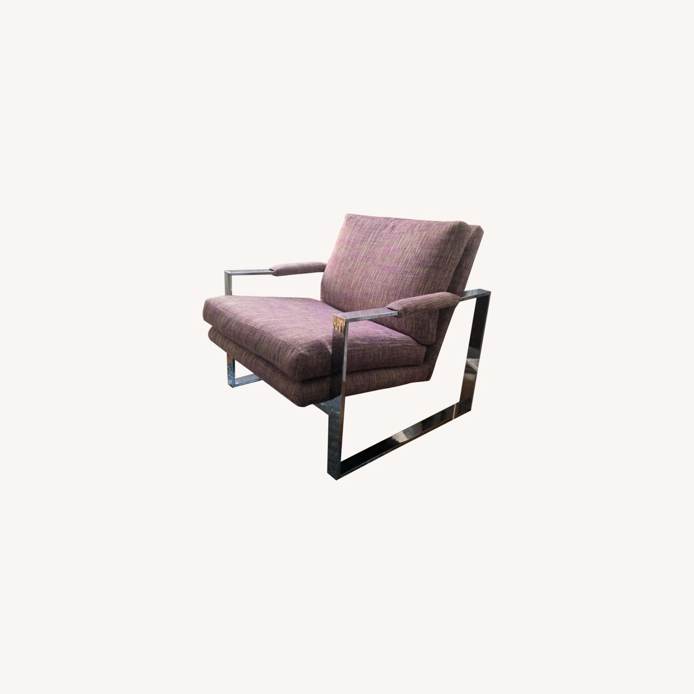 Milo Baughman Chrome Armchair - image-0