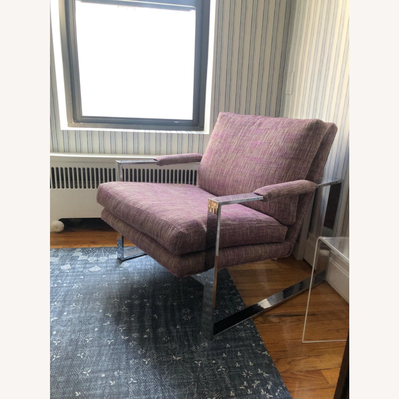 Milo Baughman Chrome Armchair - image-2