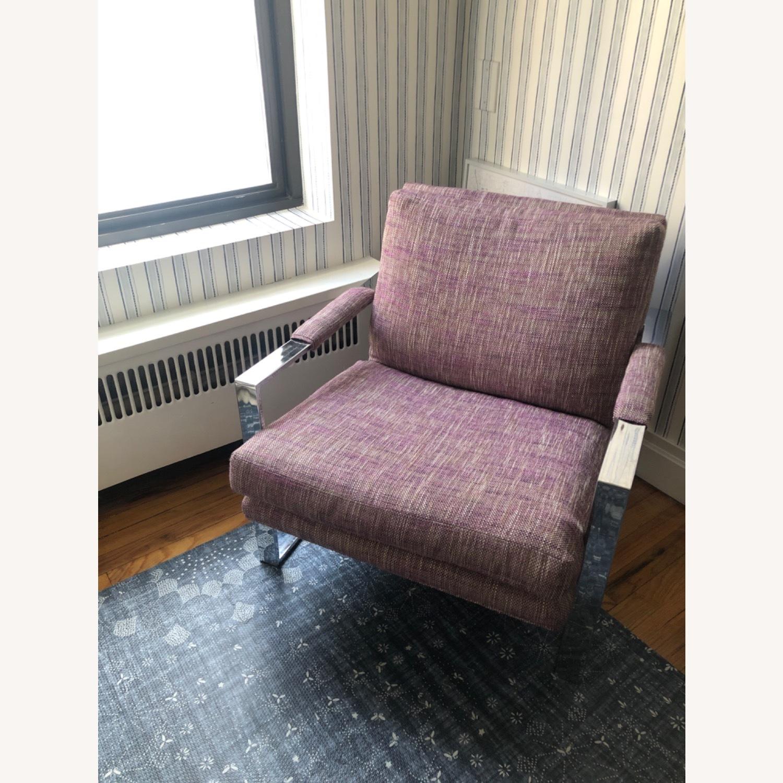 Milo Baughman Chrome Armchair - image-3